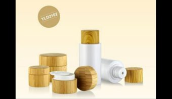 [Glass jar with bamboo lid bamboo roll on bottle]