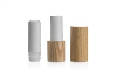 Wood refillable lipstick